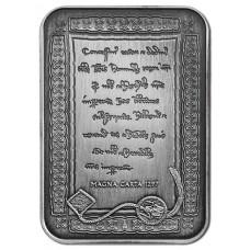 2015 $5 Magna Carta Antique Silver