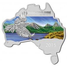 2015 $1 Australia Shaped Wedge-Tailed Eagle 1oz Silver BU