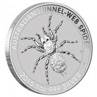 2015 $1 Funnel-Web Spider 1oz Silver BU