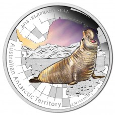 2015 $1 AAT Elephant Seal 1oz Silver Proof..