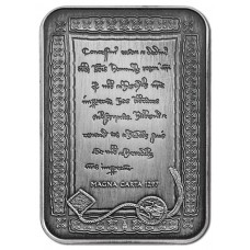 2015 $5 Magna Carta Antique Silver..