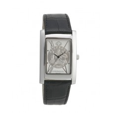 Elegance Sixpence Silver / Black leather..