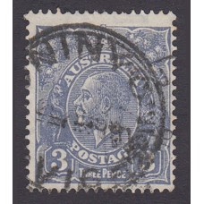 Australian    King George V    3d Blue   C of A Crown WMK  Plate Variety 7R35..
