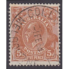 Australian  King George V  5d Brown   Wmk  C of A  Plate Variety 3L26..
