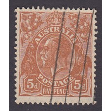 Australian    King George V    5d Brown   C of A WMK   Plate Variety 3R42..