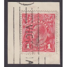 Australian    King George V    1d Red   Single Crown WMK  Inverted Watermark 2nd State  Plate Variet..