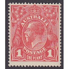 Australian    King George V    1d Red   Single Crown WMK  1st State  Mint Unhinged Plate Variety 5/21