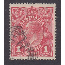 Australian    King George V    1d Red  Single Crown WMK 3rd State Plate Variety 5/10..