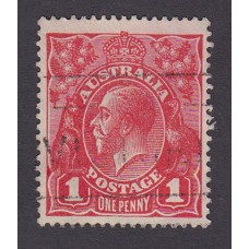 Australian    King George V    1d Red  Single Crown WMK 3rd State Plate Variety 5/12..