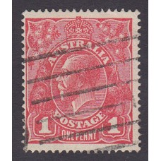 Australian    King George V    1d Red   Single Crown WMK  2nd State  Plate Variety 5/15