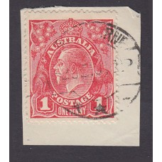 Australian    King George V    1d Red  Single Crown WMK 1st State Plate Variety 5/9..