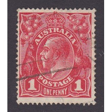 Australian    King George V    1d Red   Single Crown WMK   2nd State Plate Variety 5/26..