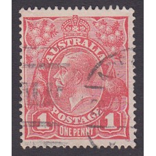 Australian    King George V    1d Red   Single Crown WMK   2nd State Plate Variety 5/30..