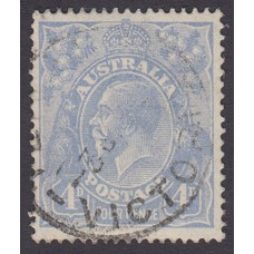 Australian    King George V    4d Blue   Single Crown WMK  Plate Variety 2L31..