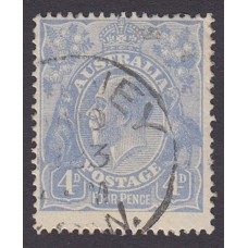 Australian    King George V    4d Blue   Single Crown WMK  Plate Variety 2L36..