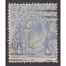 Australian    King George V    4d Blue   Single Crown WMK  Plate Variety 2R48