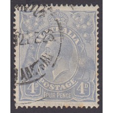 Australian    King George V    4d Blue   Single Crown WMK  Plate Variety 2R59..