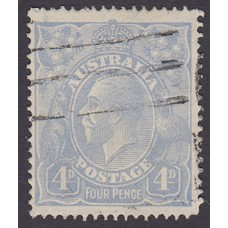 Australian    King George V    4d Blue   Single Crown WMK  Plate Variety 2R55