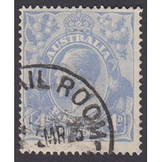 Australian    King George V    4d Blue   Single Crown WMK  Plate Variety 2R38..