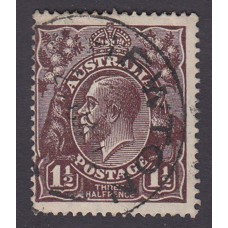 Australian    King George V   1½d Penny Half Pence Black Brown   Single Crown WMK 1st State Plate Va..