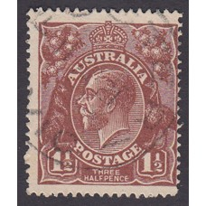 Australian    King George V   1½d Penny Half Pence Brown   Single Crown WMK Plate Variety 12L53..