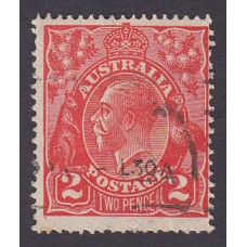 Australian    King George V    2d Red  Single Crown WMK Plate Variety 12R30..