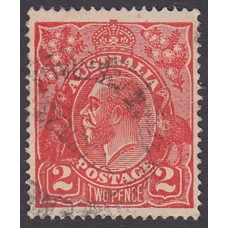 Australian    King George V    2d Red  Single Crown WMK Plate Variety 12R57..
