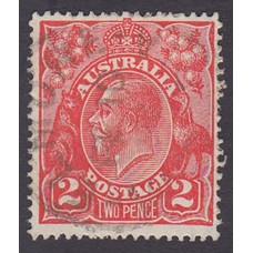 Australian    King George V    2d Red  Single Crown WMK Plate Variety 12L30