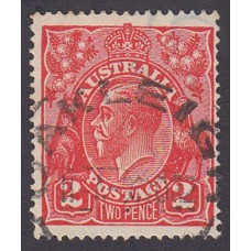 Australian    King George V    2d Red  Single Crown WMK Plate Variety 12R48..