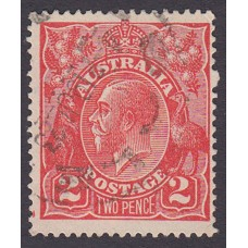 Australian    King George V    2d Red  Single Crown WMK Plate Variety 16R11..