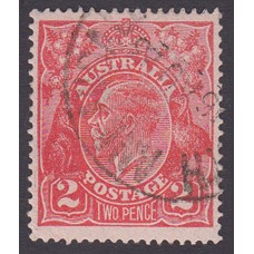 Australian    King George V    2d Red  Single Crown WMK Plate Variety 16R13..
