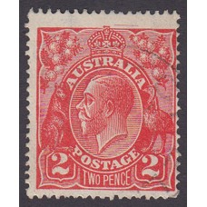 Australian    King George V    2d Red  Single Crown WMK Plate Variety 16R30..
