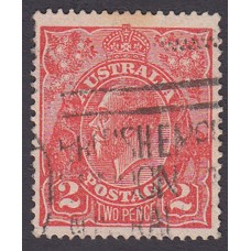 Australian    King George V    2d Red  Single Crown WMK 2nd State Plate Variety 16R33..