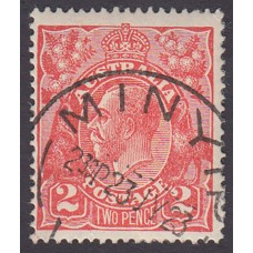 Australian    King George V    2d Red  Single Crown WMK Plate Variety 16R46..