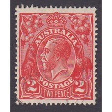 Australian    King George V    2d Red  Single Crown WMK Plate Variety 16R42..