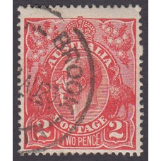 Australian    King George V    2d Red  Single Crown WMK Plate Variety 16R53..