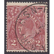 Australian    King George V    2d Brown   Single Crown WMK  Plate Variety 12R51..