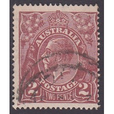 Australian    King George V    2d Brown   Single Crown WMK  Plate Variety 16L59..