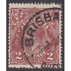 Australian    King George V    2d Brown   Single Crown WMK  2nd State Plate Variety 16R33..