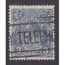 Australian    King George V    3d Blue    Small Multiple Perf 13 ½ x 12½  Crown WMK  Plate Variety 5L-Top Row