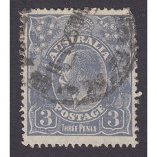 Australian    King George V    3d Blue    Small Multiple Perf 14  Crown WMK  Plate Variety 3-4R36