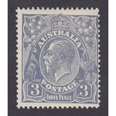 Australian    King George V    3d Blue    Small Multiple Perf 14  Crown WMK  Plate Variety 3R54..